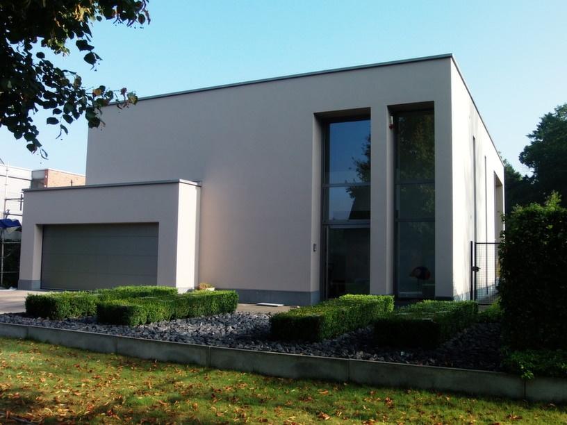 Woningbouw realisaties architect moderne woningen villa 39 s van aerschot sterckx for Afbeelding van moderne huizen
